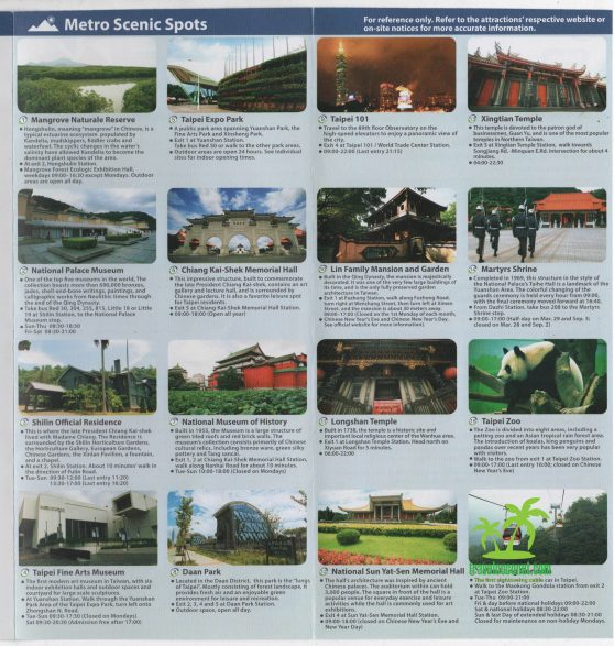 Taipei Top 10 Attractions map